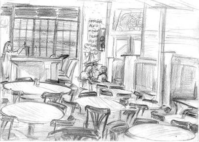 empty bar sketch